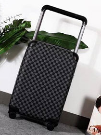 Louis vuitton original damier graphite horizon 55 rolling luggage n23209 black