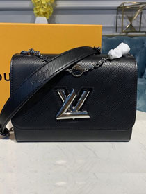 2020 louis vuitton original epi leather twist mm M55411 black