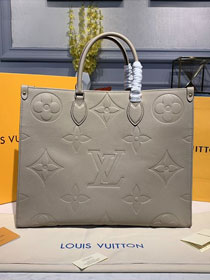 2020 louis vuitton original calfskin onthego tote bag M44571 grey