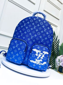 Louis vuitton original monogram backpack M45441 blue