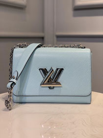 2020 Louis vuitton original epi leather twist mm M50280 light blue