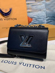 Louis vuitton original epi leather twist mini handbag M56117 black