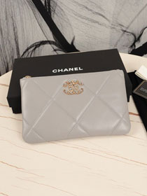CC original lambskin 19 small pouch AP1059 grey