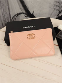 CC original lambskin 19 small pouch AP1059 light pink
