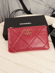 CC original lambskin 19 small pouch AP1059 red