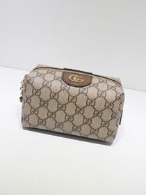GG original canvas cosmetic pouch 548393 coffee
