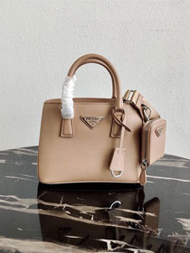 Prada original saffiano leather galleria micro bag 1BA296 apricot