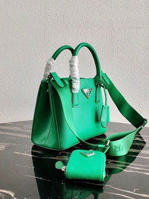 Prada original saffiano leather galleria micro bag 1BA296 green