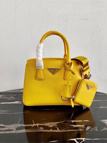 Prada original saffiano leather galleria micro bag 1BA296 yellow