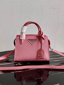 Prada original saffiano leather small monochrome bag 1BA269 pink