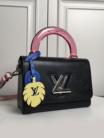 Louis vuitton original epi leather twist mm M56112 black