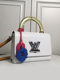 Louis vuitton original epi leather twist mm M56132 white