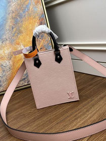 2020 louis vuitton original epi leather petit sac plat bag M69575 pink