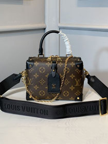 2020 louis vuitton original monogram top handle bag M48818 black