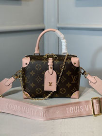 2020 louis vuitton original monogram top handle bag M48818 pink