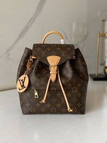 Louis vuitton original monogram montsouris backpack M45515 apricot
