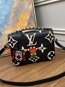 2020 Louis vuitton original monogram giant calfskin pochette metis m45385 black