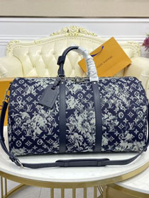 Louis vuitton original monogram tapestry canvas keepall 50 M57284